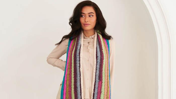 Crochet Horizontal Beginner Scarf