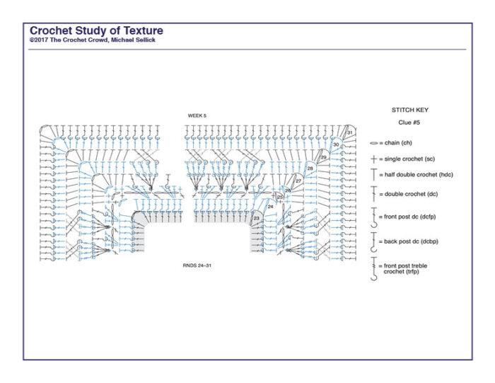 Crochet Study of Texture Diagram 5
