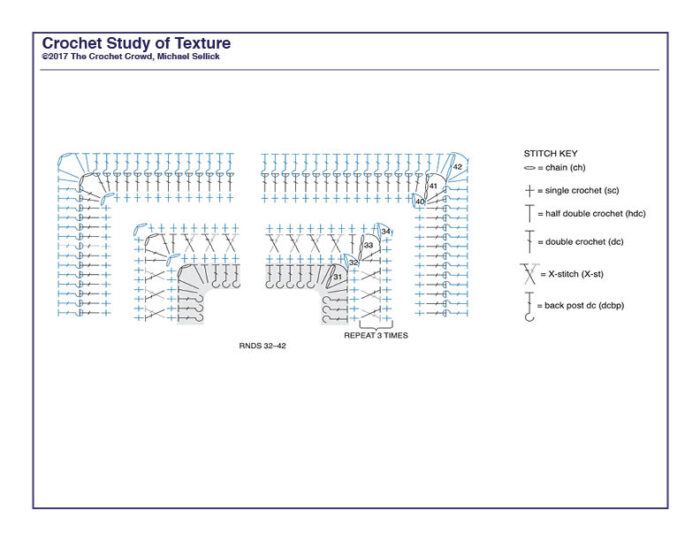 Crochet Study of Texture Diagram 6