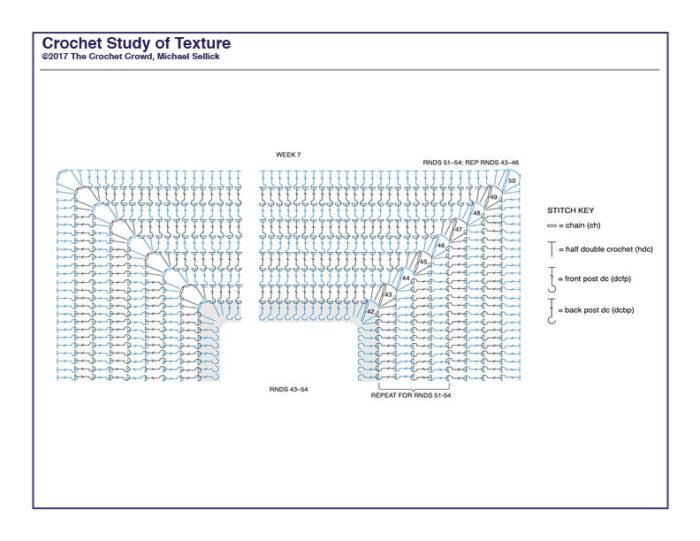Crochet Study of Texture Diagram 7