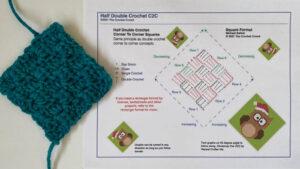 Half Double Crochet in Square Format Corner to Corner C2C Diagram