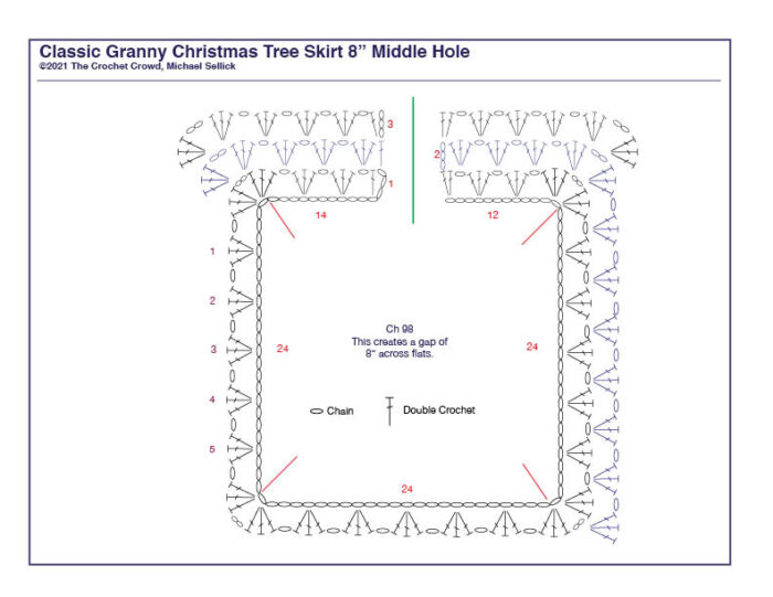 8 Inch Crochet Christmas Tree Skirt