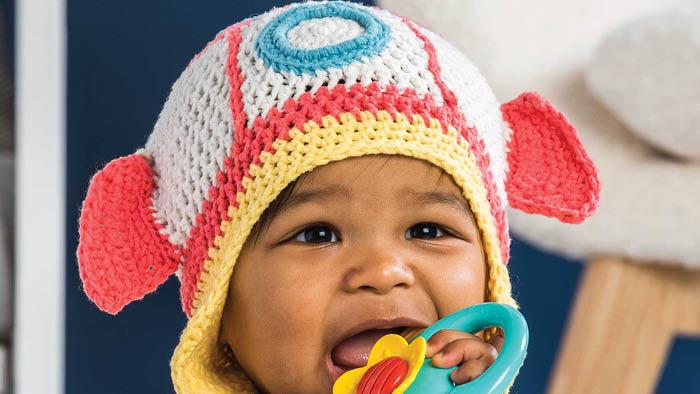 Crochet Baby Rocketship Hat