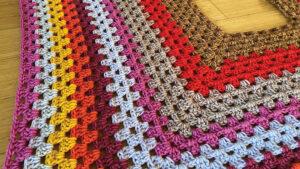 Classic Christmas Tree Skirt Close Up Crochet