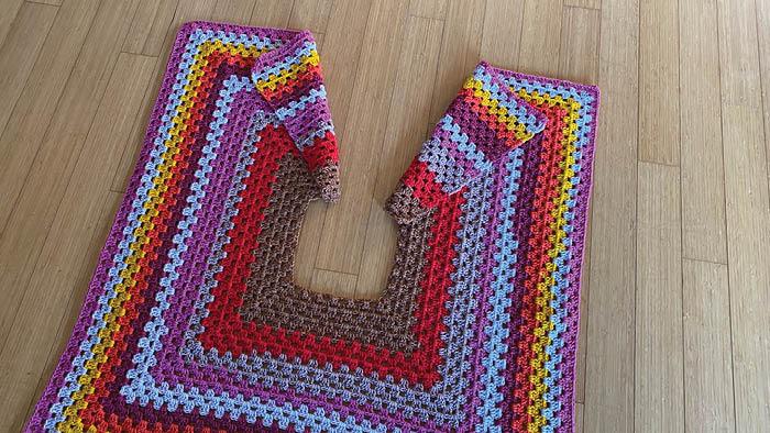 Classic Christmas Tree Skirt Open Slit Crochet
