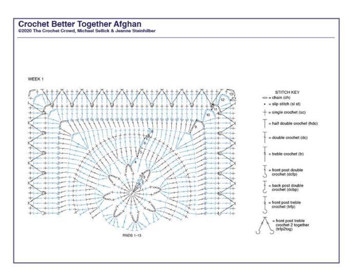 Crochet Better Together Afghan Diagram 1