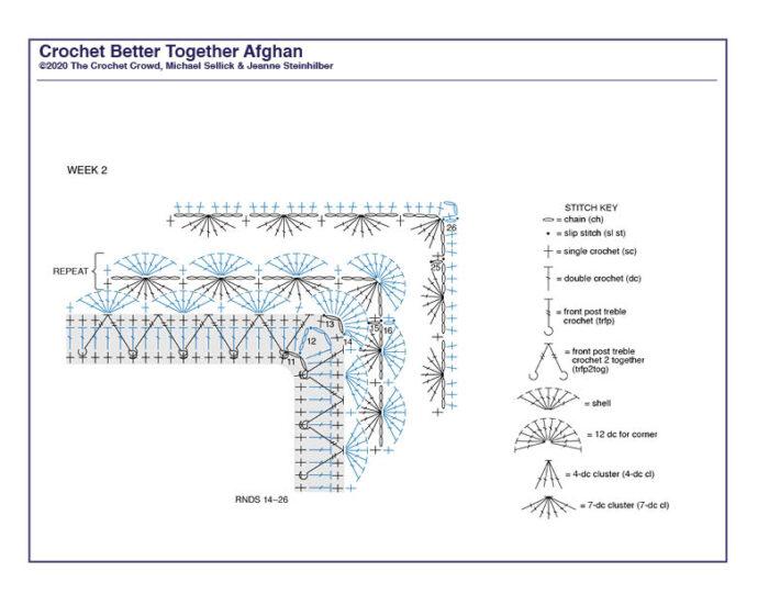 Crochet Better Together Afghan Diagram 2