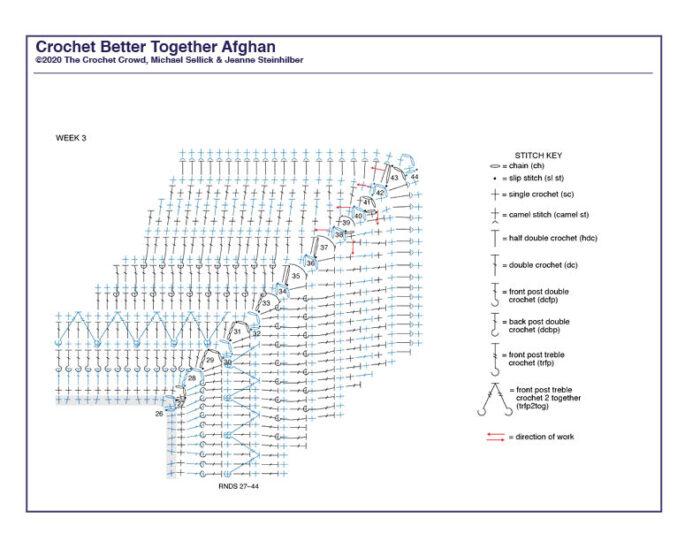 Crochet Better Together Afghan Diagram 3