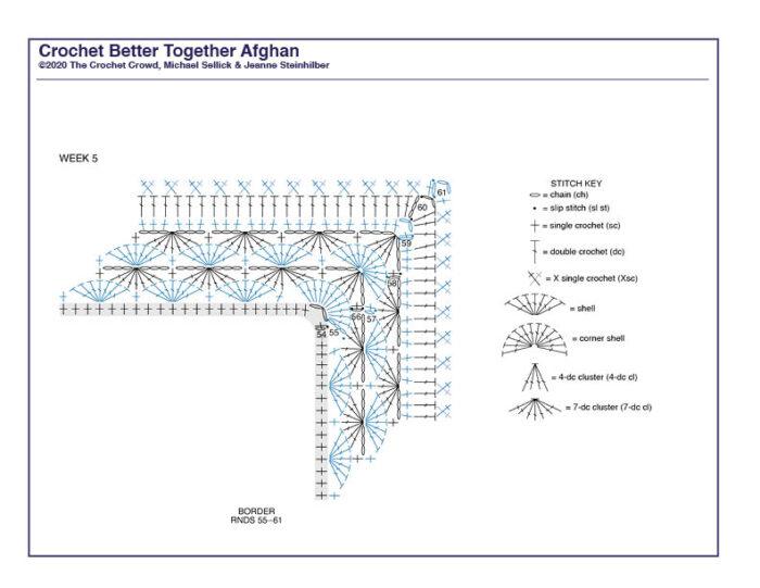 Crochet Better Together Afghan Diagram 5