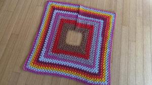 Crochet Classic Granny Christmas Tree Skirt