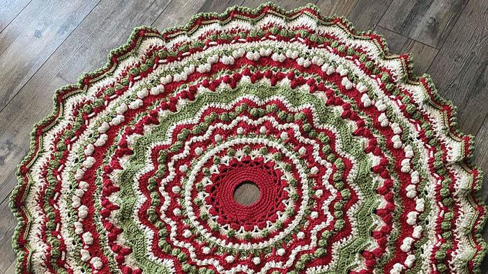 Crochet Gingerbread Christmas Tree Skirt Wendy Marple