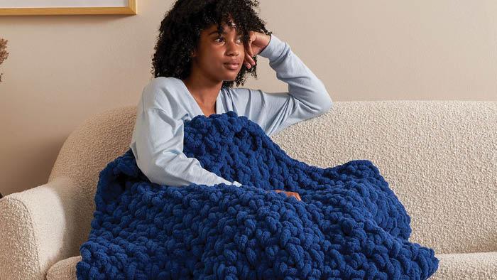Crochet Massive Moss Stitch Blanket