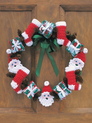 Merry Christmas Wreath Crochet Pattern