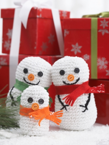 Snowman Family Crochet Pattern