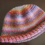 Abstract Color Crochet Beanie