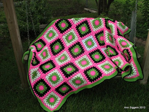 Watermelon Twist Crochet Afghan Pattern