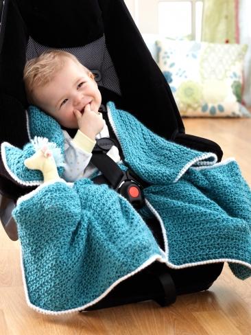 Crochet Baby Car Seat Blanket