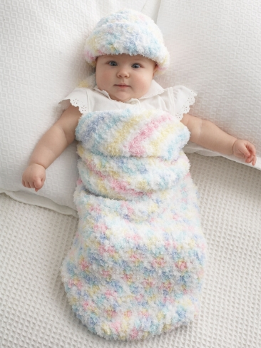 Baby Cocoon and Matching Crochet Hat Pattern