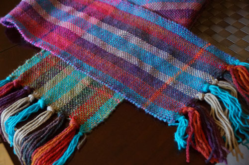 Berry Woven Scarf