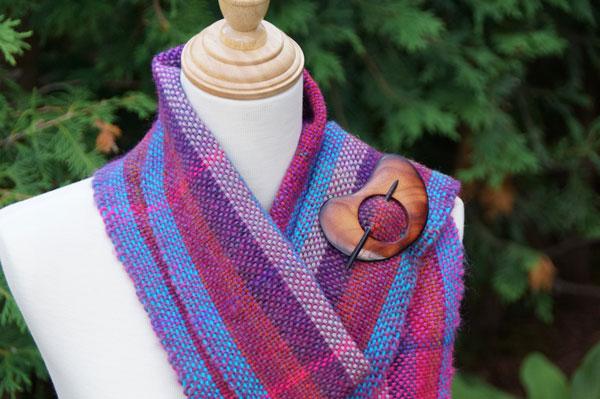 berry tartan scarf