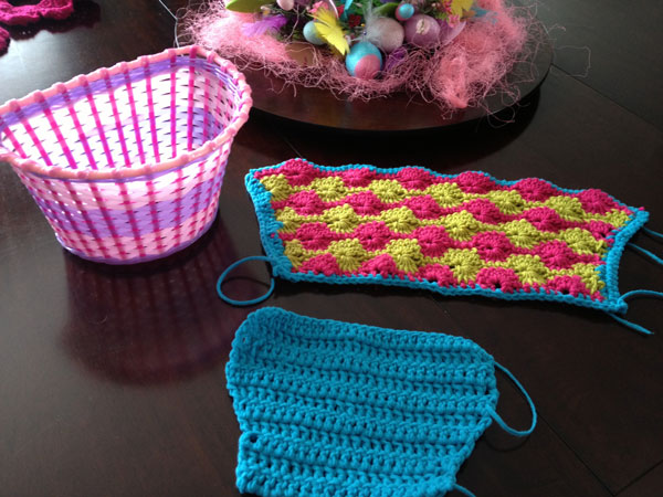 Crochet Components to cover Yarn Basket for Yarn Bike