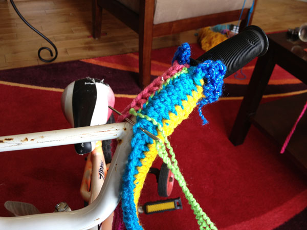 Handle Bars of Crochet Bike
