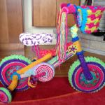 Crochet Yarn Bombed Bike