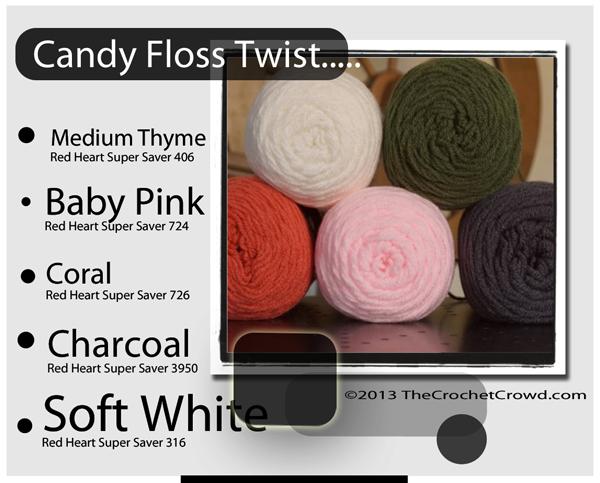 Yarn Colours like Candy Floss.