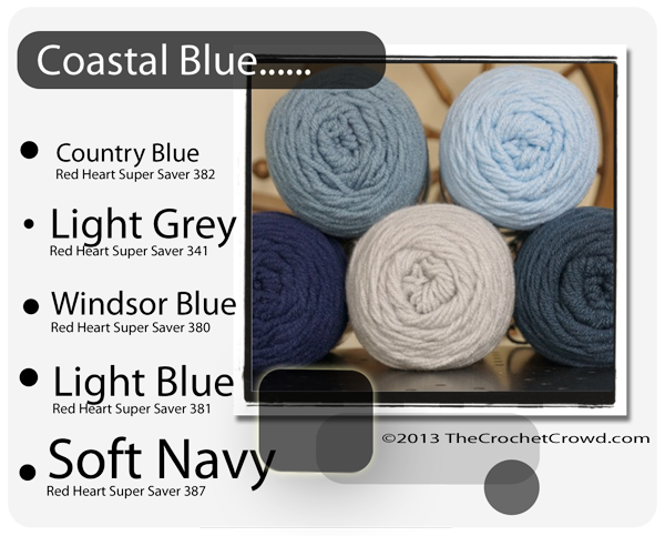 Red Heart Super Saver Color Mix: Coastal Blue