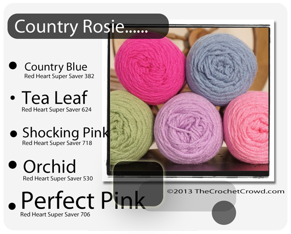 Red Heart Super Saver Color Mix: Country Rosie
