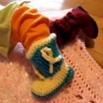 Cowboy Baby Crochet Booties