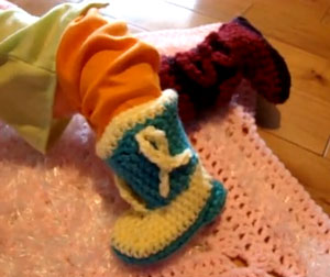 Baby Cowboy Booties Crochet Pattern