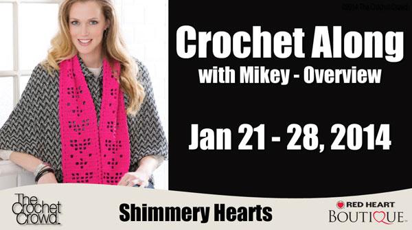 Crochet Along: Shimmery Hearts Crochet Scarf