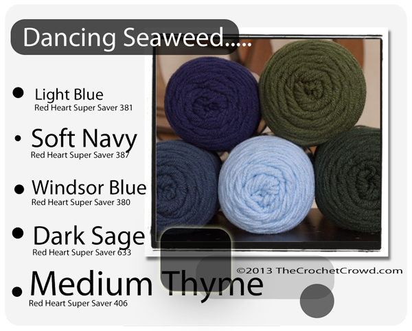 Under the Sea Inspired yarn Colours