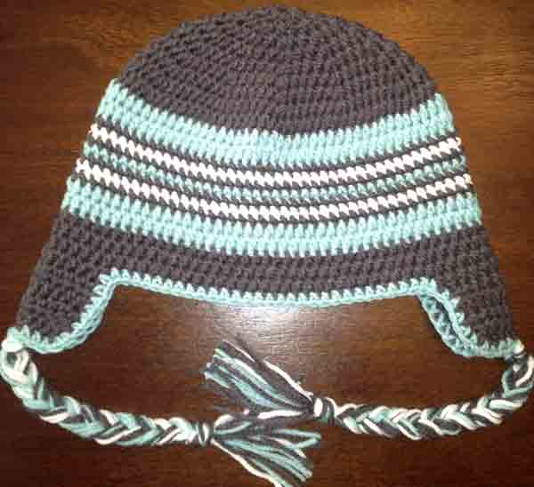 Crochet Womens Hat With Ear Flaps Pattern : Gallery For > Crochet Hats With Ear Flaps Free Patterns