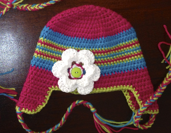 Ear Flat Crochet Hat