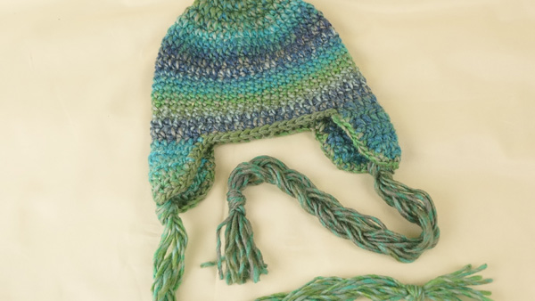 Treasure Braided Ear Flap Crochet Hat Pattern