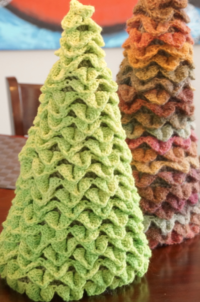 Easter Crocodile Stitch Tree Crochet Pattern