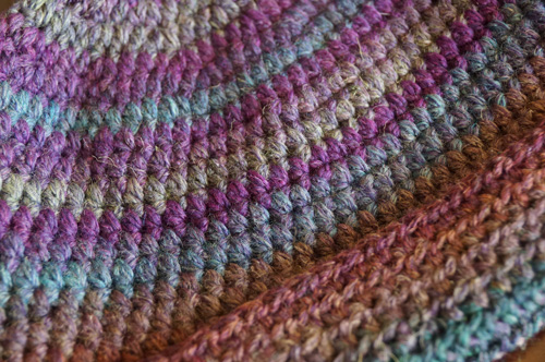 Red Heart Eclipse Yarn Close Up Shot