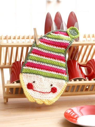 Elf Dish Cloth Pattern: Crochet
