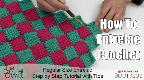 Entrelac Afghan Pattern Tutorial The Crochet Crowd