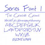 Series 1 Fonts to Filet Crochet