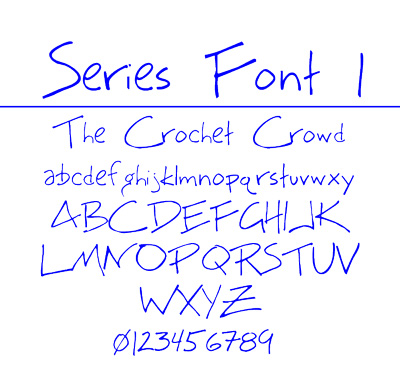 Font Series 1 for Filet Crochet for The Crochet Crowd
