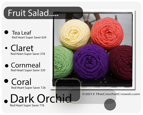 Fruit Salad yarn Colours