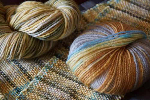 Green Tartan Yarn Scarf
