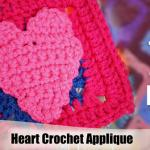 Simple Heart Applique Crochet Pattern