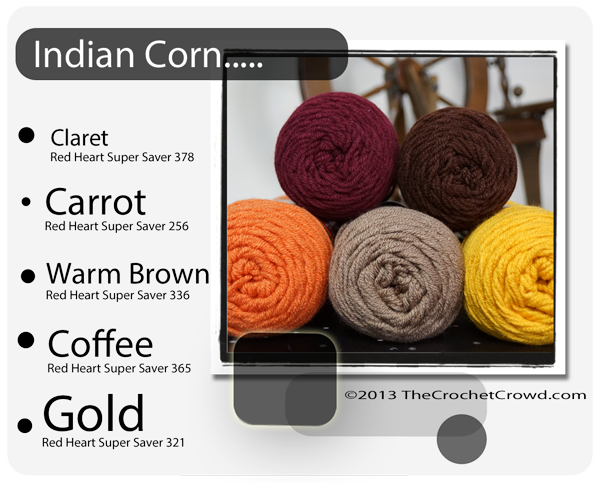 Fall and Indian Coloured Corn Yarn Inspiration