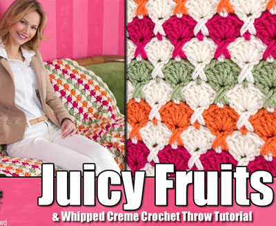 Crochet Juicy Fruits Throw