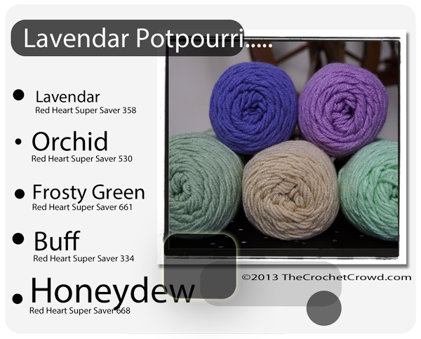 Potpourri yarn inspired colours.