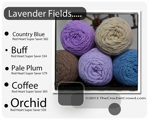 Red Heart Super Saver Color Mix: Lavendar Fields